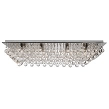 Hanna Chrome 8 Light Rectangular Semi-flush With Clear Crystal Balls