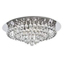 Hanna Chrome 8 Light Semi-flush With Clear Crystal Balls
