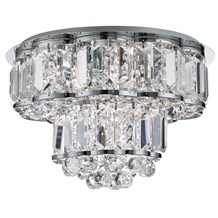 Hayley Chrome 4 Light Ceiling Fitting With Crystal Drops