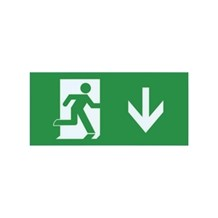 Emergency Exit Sign legend for ILEMES006 (Down arrow)