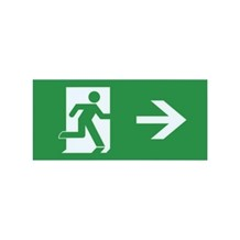 Emergency Exit Sign legend for ILEMES006 (Right arrow)