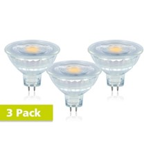 Integral LED MR16 Glass GU5.3 5.2W (35W) 2700K 390lm Dimmable Lamp - 3 PACK