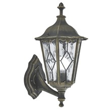 Imperial Black Gold Ip44 Outdoor Wall Light