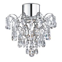 Ip44 Chandelier With Crystal Droplets And Buttons