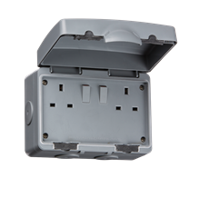IP66 13A 2G DP Switched Socket