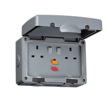 IPRCD IP66 13A RCD 2G Switched Socket