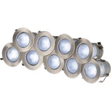 230V IP65 10 x  0.2w Cool White LED Kit 6000K