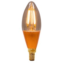 4W LED Vintage Candle Dimmable - SES, Amber, 2000K