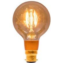 4W LED Vintage Globe Dimmable - BC, Amber, 2000K