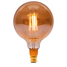 4W LED Vintage 125mm Globe Dimmable - BC, Amber, 2000K