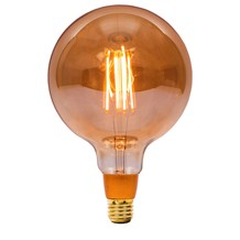 4W LED Vintage 125mm Globe Dimmable - ES, Amber, 2000K