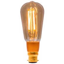 4W LED Vintage Squirrel Cage Dimmable - BC, Amber, 2000K