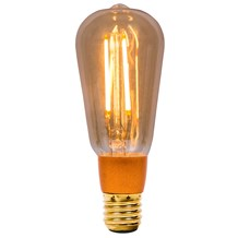 4W LED Vintage Squirrel Cage Dimmable - ES, Amber, 2000K