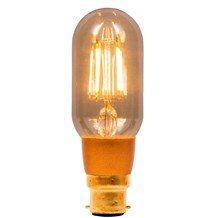 4W LED Vintage Tubular Dimmable - BC, Amber, 2000K