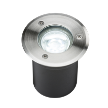230V IP65 3W LED Stainless Steel Recessed Ground Light - 6000K