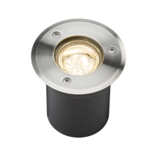 230V IP65 3W LED Stainless Steel Recessed Ground Light  3000K