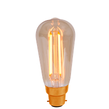 4W LED Vintage Squirrel Cage - BC, Amber, 2000K