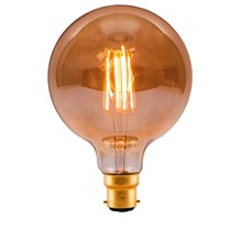 4W LED Vintage 125mm Globe - BC, Amber, 2000K