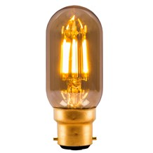4W LED Vintage Tubular - BC, Amber, 2000K - L110mm
