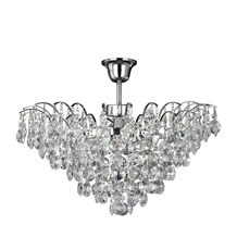 Limoges Chrome 3 Light Semi-flush Trimmed With Sunflower Crystals
