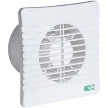"White 4"" with Timer Low Profile Bathroom Extractor Fan"