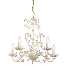 Lullaby Cream Flower Detailed 5 Light Pendant Chandelier Endon LULLABY-5CR