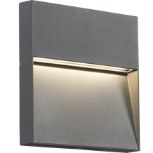 LWS4G 230V IP44 4W LED Square Wall / Guide light - Grey