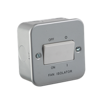 Metal Clad 10A Fan Isolator Switch