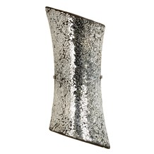 Marconi Silver Crazed Effect 2 Light Wall Endon MARCONI-2WBCH