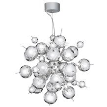 Molecule Chrome 12 Light Pendant With Chrome Balls