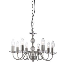 Monarch 8 Light Ceiling Fitting With Glass Sconces