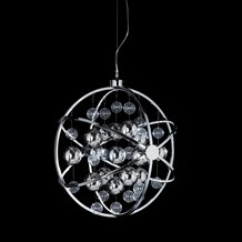 Muni Polished Chrome LED 600mm Pendant 13W Endon MUNI-CH-L