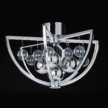 Muni Polished Chrome Flush LED 7.5W Endon MUNI-CH-F