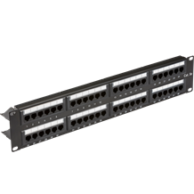 "19"" 2U 48-port UTP CAT5e patch panel"