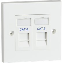 Twin Cat6 Outlet Kit