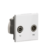 Diplexed TV /FM DAB Outlet Module 50 x 50mm - White