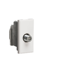 NETSATSWH Screened SAT TV Outlet Module 25 x 50mm - White