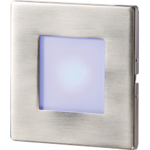 Stainless Steel Recessed LED Wall Light Single Blue