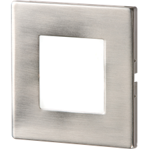 Stainless Steel Recessed LED Wall Light Single White
