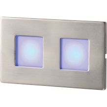S/S RECESSED LED WALL LIGHT - TWIN BLUE