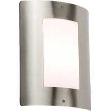 NH027 240V IP44 E27 40W max. Stainless Steel Outdoor Wall Fixture