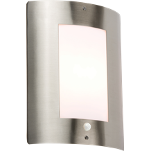 NH027S 240V IP44 E27 40W max. Stainless Steel Outdoor Wall Fixture with PIR