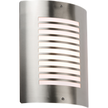 NH028 240V IP44 E27 40W max. Stainless Steel Outdoor Wall Fixture