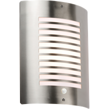 NH028S 240V IP44 E27 40W max. Stainless Steel Outdoor Wall Fixture with PIR