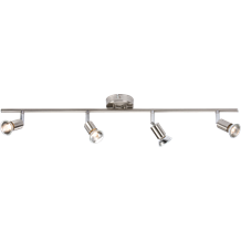 230V GU10 Quad Bar Spotlight - Brushed Chrome