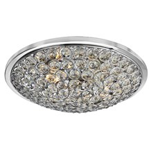 Orion Chrome 3 Light Flush Fitting With Clear Crystal Buttons