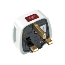 Plug Top 13Amp - 13Amp Fused Rubber White BS1363