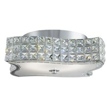 Rados Chrome Led Wavy Ceiling Light With Crystal Glass Diffuser