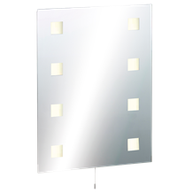 IP44 Rectangular Mirror with Demister and Dual Voltage Shaver Socket