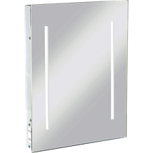 IP44 LED Rectangular Mirror with Dual Voltage Shaver Socket
